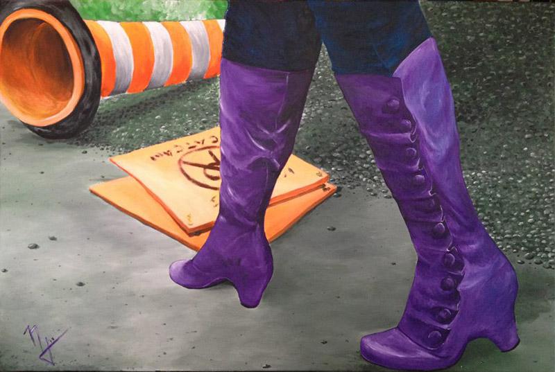 boots-purple